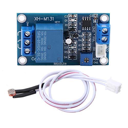M131 Photoresistor Relay Module, DC 4V Light Control Switch Photoresistor Relay Switch Detection Sensor XH-M131 Automatic Light Control Switch with Cable
