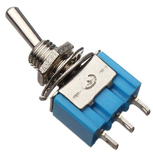 YEZIB Accesorios electrónicos de Bricolaje, Interruptor SPDT 3 Botones Toggle AC 125V 6A ON/ON 2 Posición 5pcs