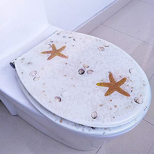 yjll Automatische toiletbril | Stabiele scharnieren | Eenvoudig te monteren | Vele verschillende designs