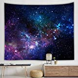 Galaxy Tapestry Blue Starry Sky Tapestry, Home 3D Cosmic Galaxy Tapestry, Living Room Bedroom Decoration Tapestry, Mattress, Tablecloth
