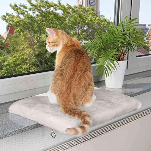 Trixie 4328 ligplaat voor vensterbank, 51 × 36 cm, lichtgrijs