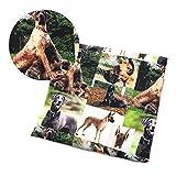 YZMY 50 * 145 cm Hund Patchwork gedruckt 100% Baumwolle