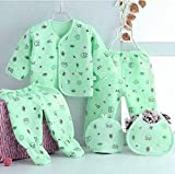 Fit Type: Fits true to size, take your normal size. Material: 100%cotton/Fleece/Falalen. Size : 0-6 Months Baby. Applicable seasons: spring and autumn winter. 100% brand new and high quality Soft and breathable healthy cotton fabric Comfortable to to...