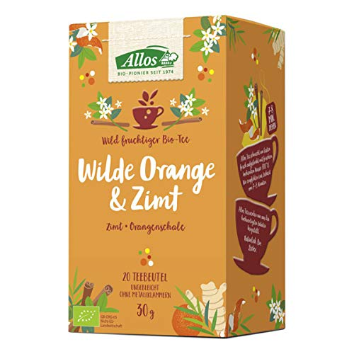 Allos - Wilde Orange und Zimt Tee - 30 g - 4er Pack