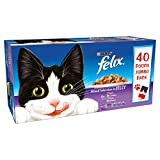 Felix Adult <span class='highlight'>Cat</span> Mixed Selection in Jelly Wet <span class='highlight'>Food</span> Pouch, 40x100g