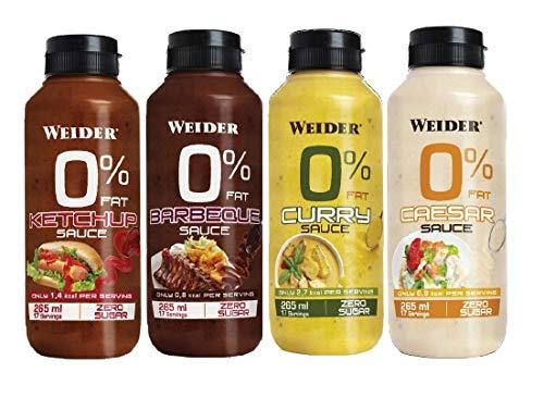 Weider - Sauce 0% fat - Sabor Kétchup - 6 botes x 265 ml