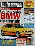 AUTO JOURNAL (L') [No 414] du 06/07/1995 - REVELATIONS / LES INCROYABLES BMW DE DEMAIN -12 PAGES DE JEUX -GP DE FRANCE F1 / QUI PEUT ARRETER SCHUMACHER -BIENTOT LA PEUGEOT 406 -VIGNETTE 96 -5 NOUVEAUX CABRIOLETS POUR L'ete -BMW M3 GT - MERCEDES E36 AMG TOURING - JEEP WRANGLER