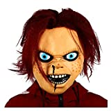WWWL Mascara de Halloween Máscara de la Mascara de Miedo Halloween Terror Mascarilla de látex Muñeca Realista Mascaras de Horror (Color : X14173, Size : M)