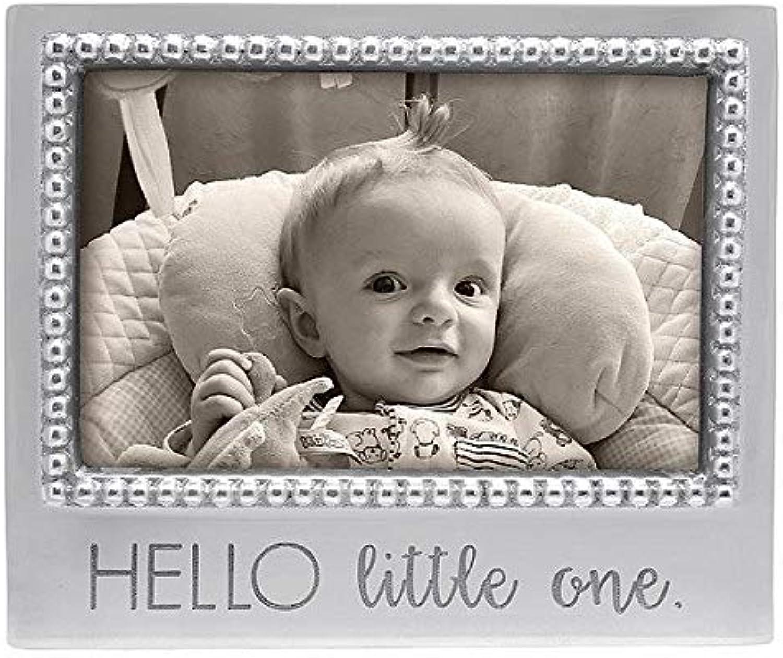 MARIPOSA Hello Little One Beaded 4X6 Frame, Silver