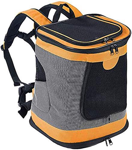 ESSEASON 123Padded Fabric Pet Dog Puppy Cat Backpack Rucksack Carrier Bag,orange