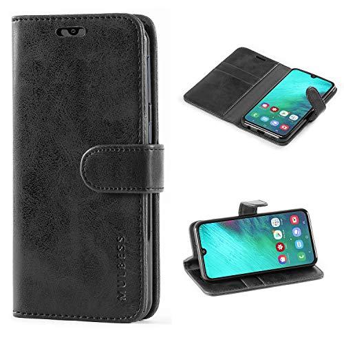 Mulbess Handyhülle für Samsung Galaxy A40 Hülle, Leder Flip Hülle Schutzhülle für Samsung Galaxy A40 Tasche, Schwarz