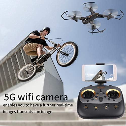 RC Quadcopter Spielzeug, 5G WiFi HD Kamera 2.4GHz GPS H nstand RC Drohne für Kinder & Anf er(Weißinkel 2 MP)