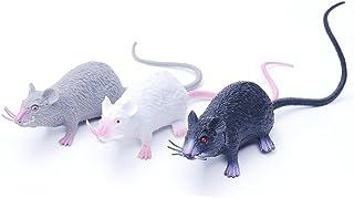 EORTA 3 Pcs  Mice Lifelike Halloween Rats Decorations Plastic Vivid Mouse Cat Toies Prop Decorate Toy for Christmas, Party...