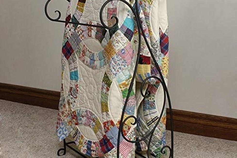 J&J Wire Scrolled 2-Piece Quilt Rack