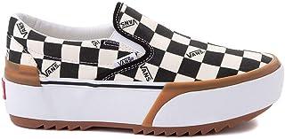 [バンズ] 靴・シューズ スニーカー Slip On Stacked Checkerboard Skate Shoe - Black/White ブラック US Men's 4, Women's 5.5 (M 22, W 22.5) [並行輸入品]