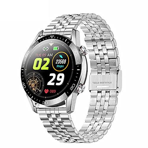 FHX Smart Watch, Bluetooth Call Voice Chat con Ritmo cardíaco/Sleep Monitor Fitness Tracker, Pantalla táctil Completa de 1.3 Pulgadas IP68 Impermeable