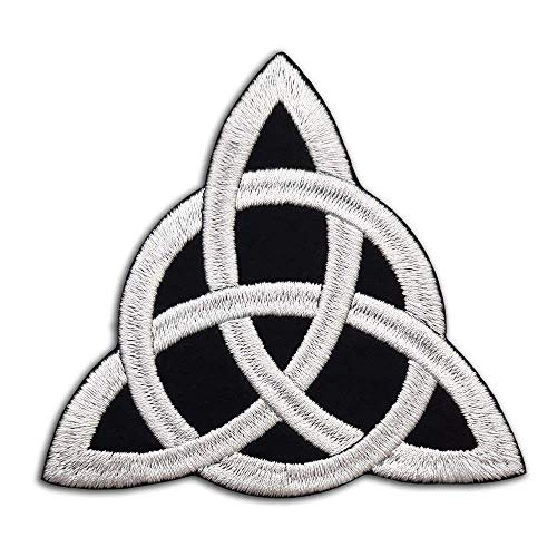 Celtic knot Embroidered Patch Iron on/Sew on. Size: 9,5 x 8,5 cm (3,7″ x 3,3″). #b141