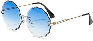 LUKEEXIN Women Stylish Color Polygonal Ocean Piece Outdoor Sport Sunglasses, UV Protection (Color : Light Blue)