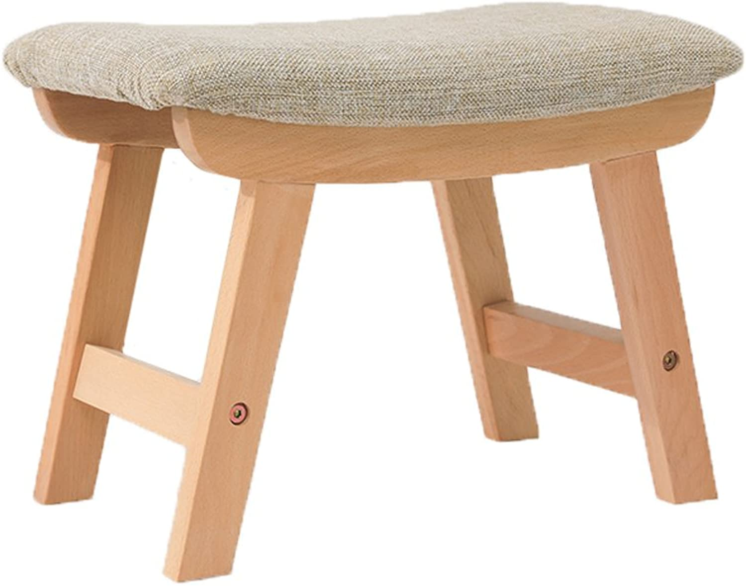 DYFYMX,Stylish Stool Fabric Stool, Fashion Creative Sofa Stool Adult shoes Bench Solid Wood Stool Furniture (color   D)