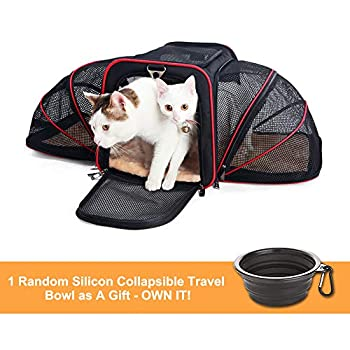 La Gracery Sac Transport pour de Chiens et Chat Pliable Ventilé Convient pour Le Camping, Les Voyages et pour Avion Voiture