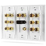 Panneau de distribution multicanal Fosmon Hd8006- 7.1 Home Theater - Avec reliure banane et cuivre et plaqué or 7.1 blanc Img 1 Zoom