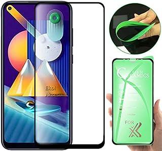 Samsung Galaxy M11 9D 5D Tam Full Kaplayan Flexible Kavisli Esnek Seramik Nano Ekran Koruyucu Kırılmaz Cam