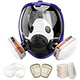 17 in 1 Face Respirator, Wide Field of View Full...