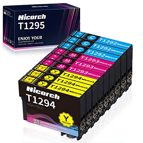 Hicorch Reemplazo para Epson T1292 T1293 T1294 Cartuchos de Tinta Compatible con Epson WorkForce WF-3520 Stylus SX235W SX425W SX430W SX435W SX445W SX525WD BX305FW BX525WD(3 Cian,3 Magenta,3 Amarillo)