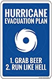 None Brand Hurricane Evacuation Plan Novelty Blechschild