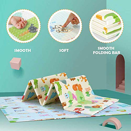 Baby Play mat Folding Baby Care XPE playmat NonToxic NonSlip Reversible Waterproof Extra Large 70X78X04in