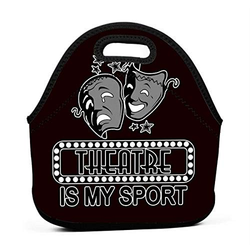 Theatre is My Sport. Men Women Kids Insulated Lunch Bag Tote Reusable Lunch Box for Work Picnic School
