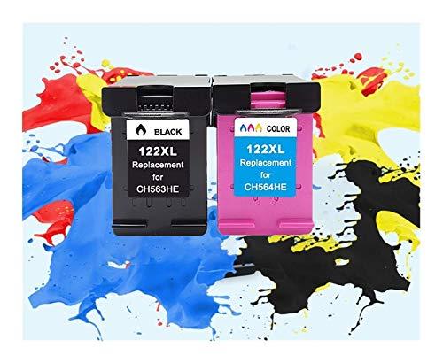 LIUYB 122XL Cartucho de Reemplazo for HP Deskjet 122 XL for 1510 2050 1000 1050 2000 2050 A 1050A 2540 3000 3050 3052A Impresora (Color : 1BK 1Tri Color)