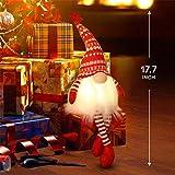 MTaoyac Weihnachten Deko Wichtel 49 cm Hoch, Schwedischen Weihnachtsmann Santa Tomte Gnom, Festliche Verpackung, Skandinavischer Zwerg Geschenke für Kinder Familie Weihnachten Freunde(2 Stücke) - 6
