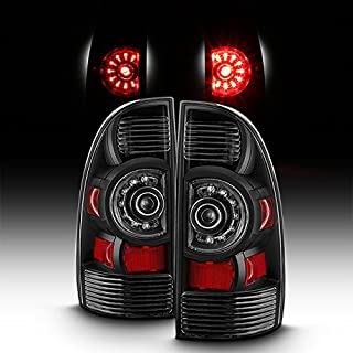 For 2005-2015 Toyota Tacoma Factory Style Black LED Pair Tail Lights Brake Lamps Replacement