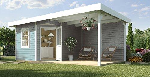 weka Designhaus 213 B Gr.1, 5-Eck, grau, 28 mm, ET, F, Anbau 300 cm