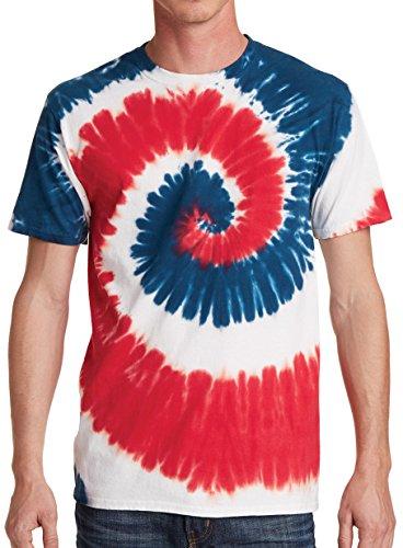 GoldenGateTees Tie Dye T-Shirt Tye Die Tee Fun Colorful Gifts for Him USA Rainbow M