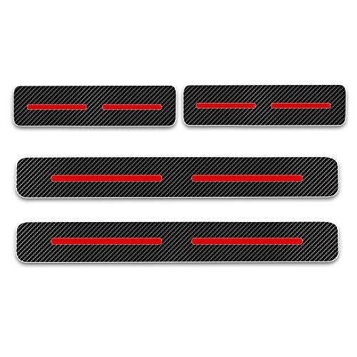 Cobear Einstiegsleiste Schutz Aufkleber Reflektierende Lackschutzfolie für I-miev ASX Outlander Pajero L200 Space Star Einstiegsleisten Rot 4 Stück