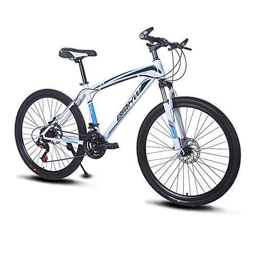 QYSHH Bicicleta de Montaña, 26', Freno de Disco, Aluminio, Unisex Adulto, Caja de Cambios Shimano 21 Velocidades, Suspensión Completa -Puños Gripshift- Frenos de Freno