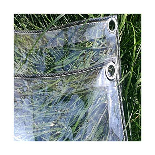 CXF Klare Planenabdeckungen Mit Ösen PVC Soft Verdicken Glasbalkon Regenvorhang , Größe Kann Angepasst Werden (Size : 2.8x3.8m)