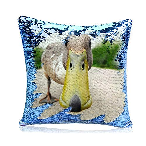 Blue98 Almohada Personalizada de Lentejuelas, Personalizar cojín, Almohada Personalizada para Fotos, Regalos Personalizados 15.75x15.75 Pulgadas