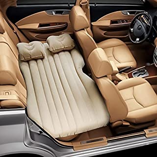 ALTERED LIFESTYLE CAR BED Inflatable Car Air Mattress with Pump (Portable) Travel, Camping, Vacation | Back Seat Blow-Up Sleeping Pad | Hatchback, Sedan, SUV, Minivan (Beige, Base + Bed)