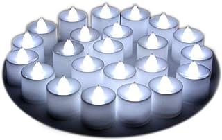 LED キャンドルライト, 電池付き ,7色点滅 ,24個セット , 電気 無煙蝋燭 LED イルミネーション,蝋燭ライト,室内電飾 パーディー 誕生日 結婚式 屋外 ,夕飯飾りクリスマス ,飾り (ホワイト)
