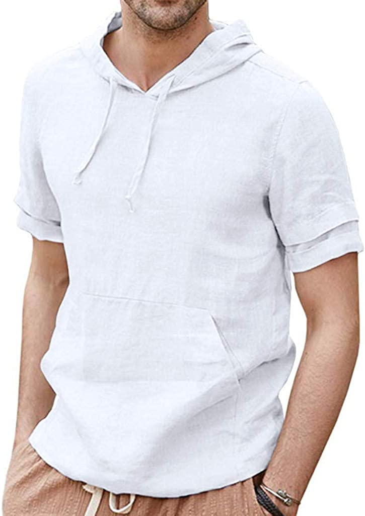 Pullover Hoodie for Men Memphis Mall Our shop OFFers the best service F_Gotal Fashion Men's Shor Summer Linen