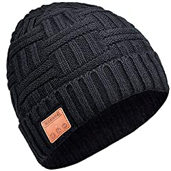 EVERSEE Bluetooth Hat, Gifts for Men & Women, Fashion Bluetooth Headphone Hat, Handsfree Function for HD Music and Calls, Bluetooth 5.0 Upgrade, Washable Bluetooth Knitted Hat Gifts