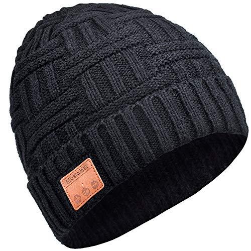 EVERSEE Bluetooth Mütze, Geschenke für Männer & Frauen, Fashion Bluetooth Kopfhörern Mütze, Freisprechfunktion für HD Musik und Anrufe, Bluetooth 5.0-Upgrade, Waschbar Bluetooth StrickMütze Geschenke