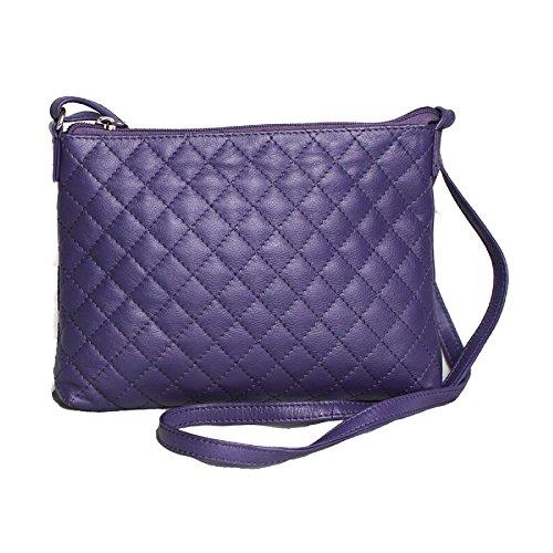 Eastern Counties Leather gesteppte Damenhandtasche Rose (Einheitsgröße) (Violett)