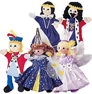 HearthSong Royal Family Costumed Puppets Special, Set of 5