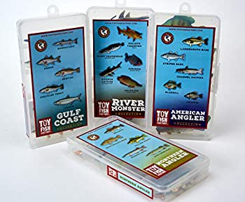 Toy Fish Factory 4 Fish Replica Sets | River Monster | American Angler | Gulf Coast | Northern Angler | Toy Fish Sets | Fish Toys for Boys | Monster Fish