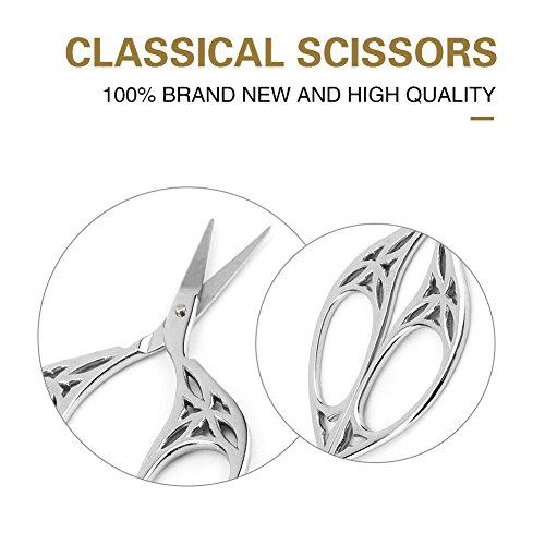 Tijeras de Acero Inoxidable, Tijeras clásicas, Bricolaje(Leaf Scissors Silver)