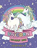Unicorn Coloring Book for kids ages 4-8: 61 unique and cute coloring pages